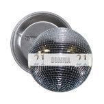 21st Birthday Silver Number 21 2 Inch Round Button