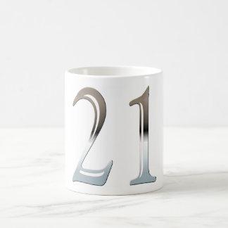 21st Birthday Silver Number 21 Coffee Mug
