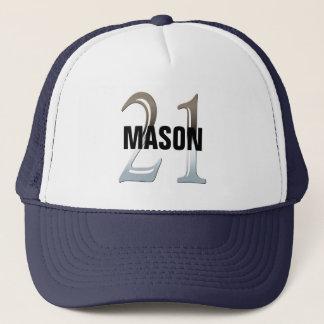 21st Birthday Silver Number 21 Trucker Hat