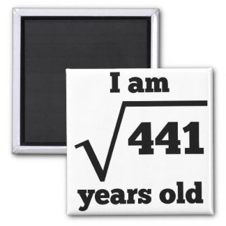 21st Birthday Square Root Magnet