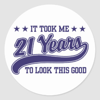 21st Birthday Classic Round Sticker