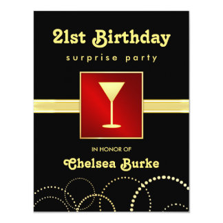 21st Birthday Surprise Party -Any Occasion Invites