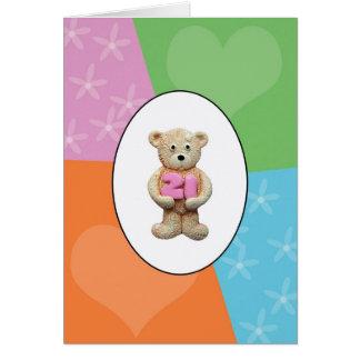 21st Birthday Teddy Bear Greeting Card