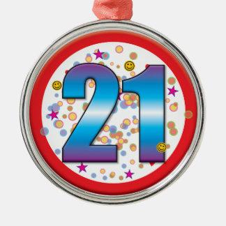 21st Birthday v2 Metal Ornament