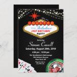 "21st Birthday Vegas Casino Invitation<br><div class=""desc"">21st Birthday Las Vegas Casino Marquee String Lights Poker Gambling Birthday Invitation</div>"