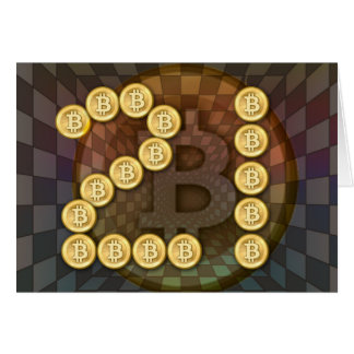 21st birthday with a bitcoin theme greeting cards
