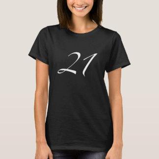 21st Birthday Women's Black T-Shirt