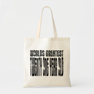 21st Birthday  Worlds Greatest Twenty One Year Old Tote Bags