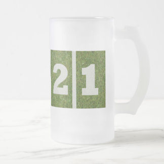21st Birthday Yard Football Glass Mug