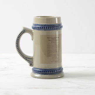21st Constitutional Amendment Ending Prohibition 18 Oz Beer Stein
