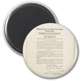 21st Constitutional Amendment Ending Prohibition 2 Inch Round Magnet
