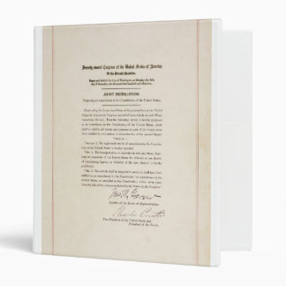 21st Constitutional Amendment Ending Prohibition 3 Ring Binder