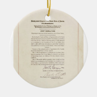 21st Constitutional Amendment Ending Prohibition Double-Sided Ceramic Round Christmas Ornament