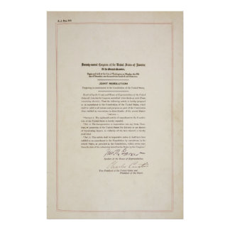 21st Constitutional Amendment Ending Prohibition Poster