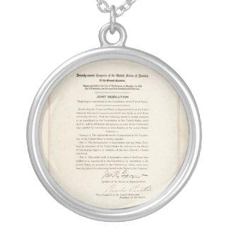 21st Constitutional Amendment Ending Prohibition Round Pendant Necklace
