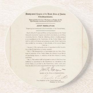 21st Constitutional Amendment Ending Prohibition Sandstone Coaster