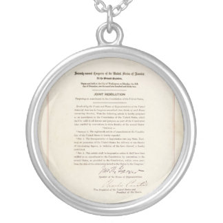 21st Constitutional Amendment Ending Prohibition Silver Plated Necklace