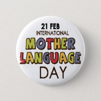 21st February - International Mother Language Day Button