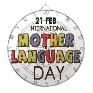 21st February - International Mother Language Day Dartboard With Darts