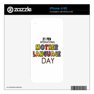 21st February - International Mother Language Day iPhone 4 Decal