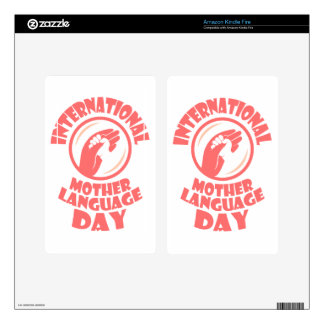 21st February - International Mother Language Day Kindle Fire Decals