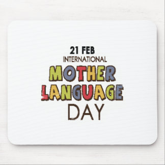 21st February - International Mother Language Day Mouse Pad