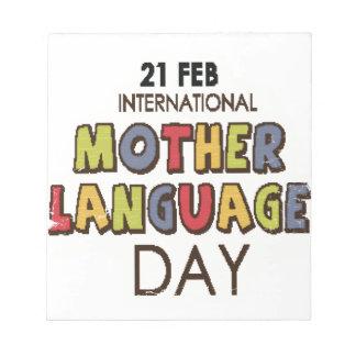 21st February - International Mother Language Day Notepad