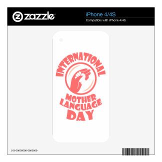 21st February - International Mother Language Day Skin For iPhone 4S