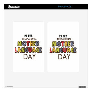 21st February - International Mother Language Day Skins For Kindle Fire