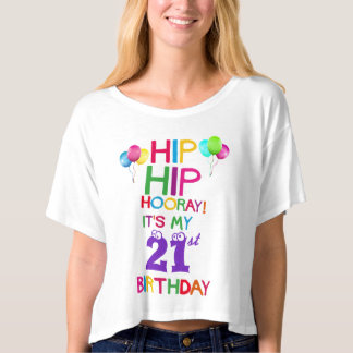21st Happy Birthday Party Crop Top - Add Age!