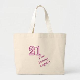 21st I'm Sooo Legal! Canvas Bags