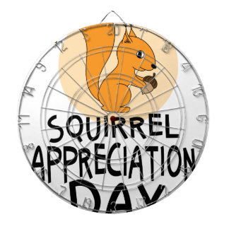 21st January - Squirrel Appreciation Day Dart Board