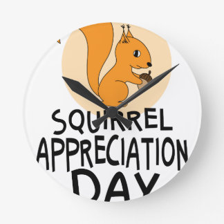 21st January - Squirrel Appreciation Day Round Clock