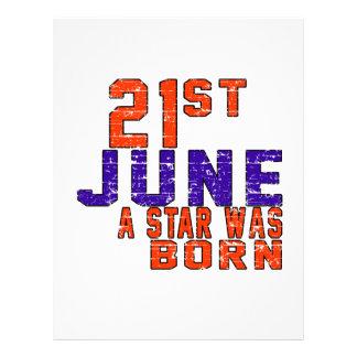 21st June a star was born Custom Letterhead