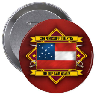 21st Mississippi Infantry Pinback Button
