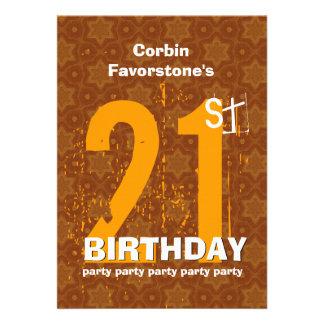 21st Modern Birthday Party Gold W1797U Cards