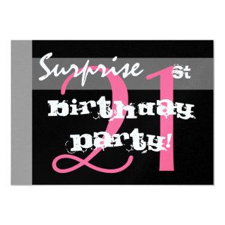 21st SURPRISE Birthday Party Custom Template