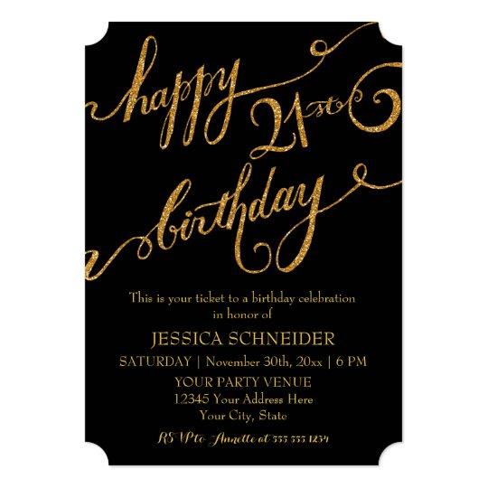 21st twenty first birthday party celebration invitation zazzle com