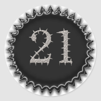 21st Vegas Birthday Round Stickers