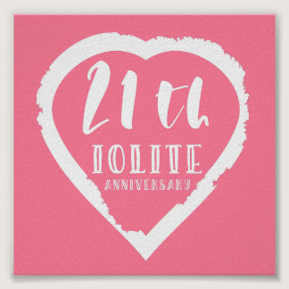 21st Wedding anniversary traditional iolite Poster
