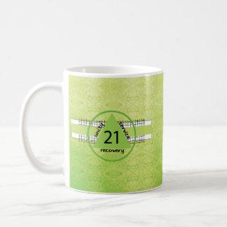 21st Year 12 Step Recovery Anniversary Gift Mug