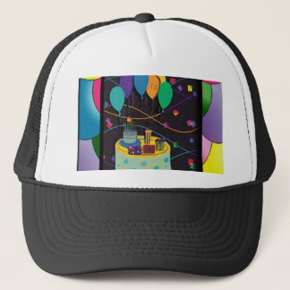 21stsurprisepartyyinvitationballoons copy trucker hat