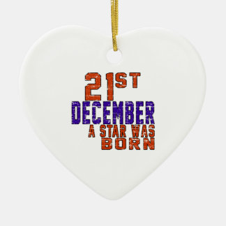 21th December a star was born Ornaments