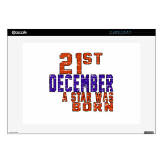 21th December a star was born Laptop Decals