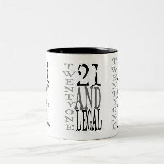 21Twenty uno y legal Taza