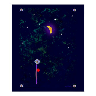 21x24 Poster- Abstract Night Scene