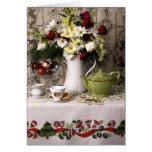 2203 navidad floral de la vida del Teatime aún Tarjeta De Felicitación