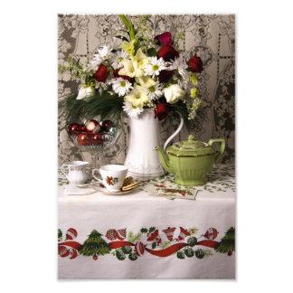 2203 Teatime Floral Still Life Christmas Photo Print