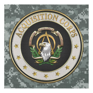 [220] Acquisition Corps (AAC) Branch Insignia [3D] Panel Wall Art