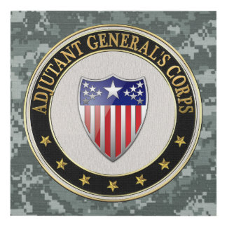 [220] Adjutant General's Corps Branch Insignia [3D Panel Wall Art